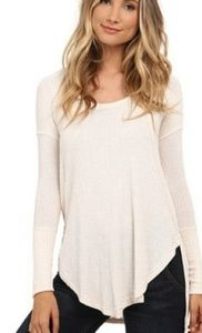 Free people white drippy Ventura thermal top